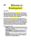 "Welcome Letter for ""Meet the Teacher"""