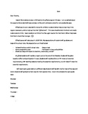 Welcome Letter to Parents Template- Just add your information