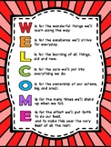 Welcome Letter to Students and Parents