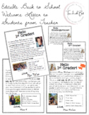 Editable Back to School Welcome Letter to Students from Teacher
