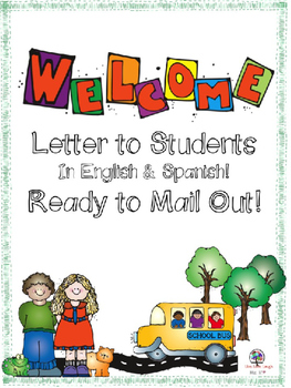 Welcome Letter to Students in English and Spanish