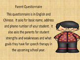 Parent Questionaire