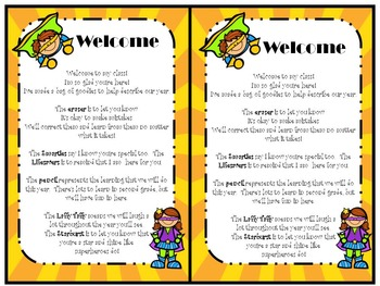 Welcome Letter with Superhero Theme