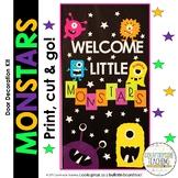 Welcome Little Monstars Door Decoration Kit/Bulletin Board Kit