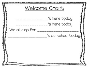 Welcome Name Poems for Pre-K and Kindergarten