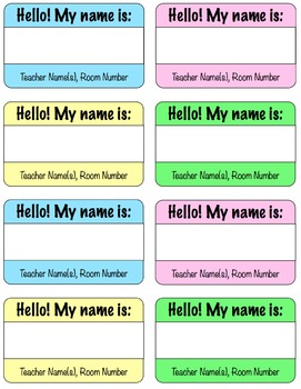 Welcome Name Tags