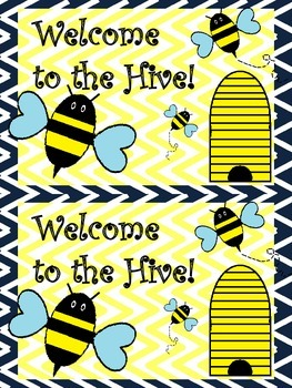 Welcome Card, Bee Theme