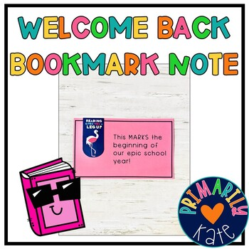 Welcome Note for Students
