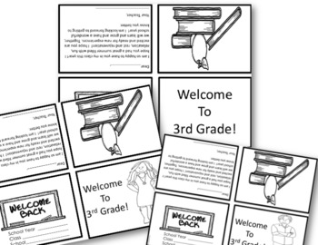 BACK TO SCHOOL: Welcome Notes~ 3rd Grade