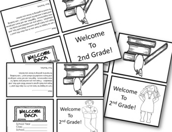 BACK TO SCHOOL: Welcome Notes~ 2nd Grade