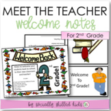 MEET THE TEACHER Welcome Notes {For 2nd Grade}