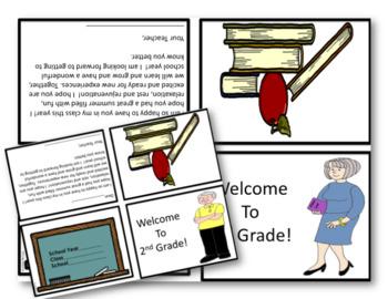 MEET THE TEACHER Welcome Notes {For 2nd Grade}