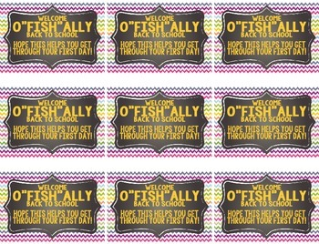 "Welcome ""O-fish-ally"" Back To School Labels"
