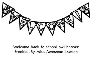 Welcome Owl Banner