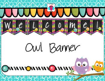 Welcome Owl Themed Banner