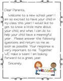 Welcome Packet {Open house forms}