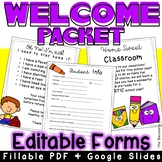 Welcome Packet for Back to School
