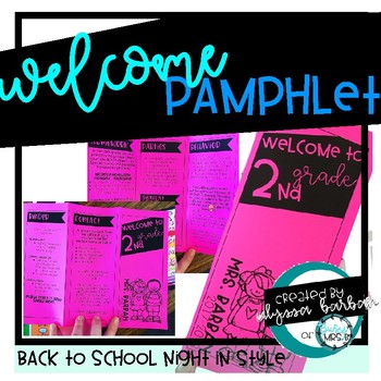 Welcome Pamphlet Editable