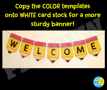 Welcome Pencil Banner Back to School
