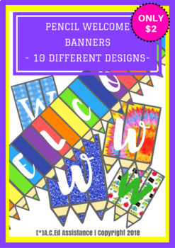 Welcome Pencil Banners