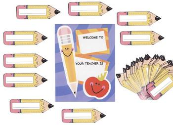 Welcome Pencil Class Display