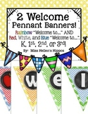 Back to School Welcome Pennant Banner {2 Choices!}