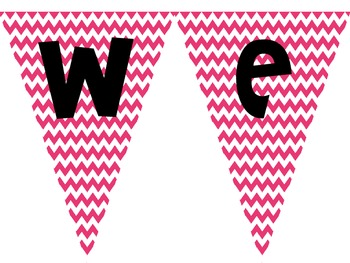 """Welcome"" Pennant Banner- 4 Chevron Colors {FREEBIE}"