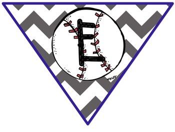 Welcome Pennant Banner (Baseball Theme)