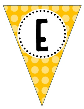 Welcome Pennant Banner for Owl Theme