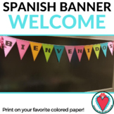 Back to School Spanish Classroom Decor - Welcome Banner -