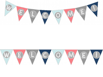 Welcome Pennant Banners *Fully Editable*