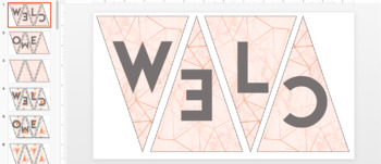 Welcome Pennant - Marble/Rose Gold