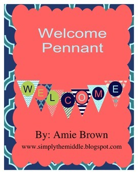 Welcome Pennant Sign