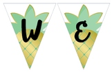 Welcome Pineapple Themed Banner (11 x 17in.)