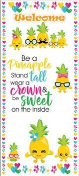 """Welcome Pineapples Door 32"""" x 72"""""""