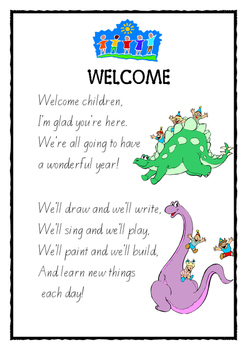 Welcome Poem