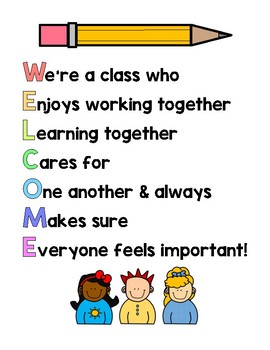 Welcome Poem Acrostic