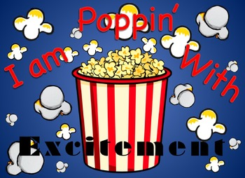 Welcome Popcorn Post Card, Post Card, Popcorn Clipart