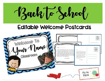 Welcome Postcards: Back to School