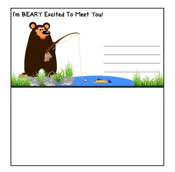 Welcome Postcards- Bear Theme