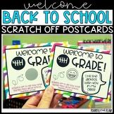 Welcome Postcards - K-5th Grade - Bitmoji/Scratch Off