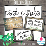 Farmhouse Themed Classroom Welcome Postcards Back to School