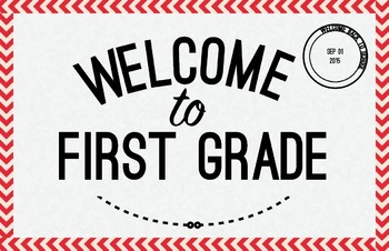 First Grade Welcome Poster