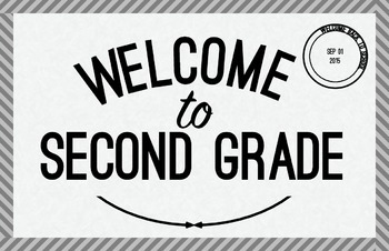 Second Grade Welcome Poster