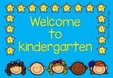Welcome to Kindergarten Poster