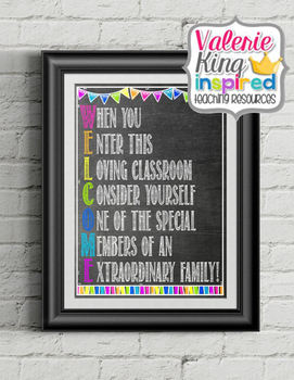 Welcome Poster Print