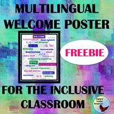 Welcome Poster in 26 Languages Great for ESL ELL Gen Ed