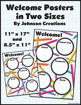 Welcome Posters in Two Sizes