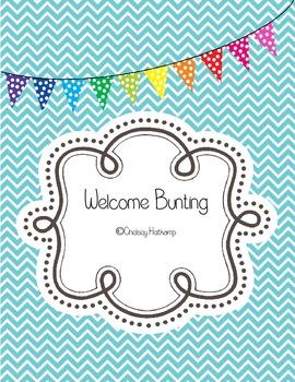 """Welcome"" Printable Bunting -FREEBIE-"