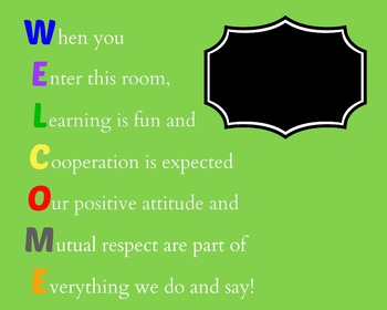 Welcome Printable When you enter this room